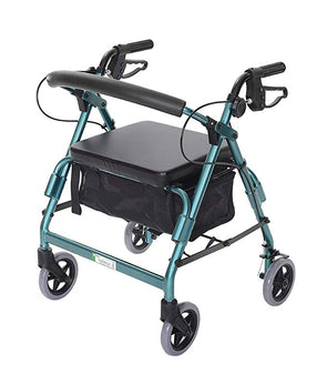 Essential Medical Supply Featherlight Demi Folding Four Wheel Walker Rollators
