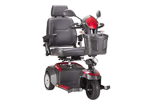 Drive Medical 3 Wheel Ventura Power Mobility Scooters with Captains Seat