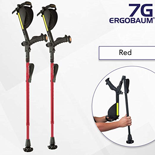 Ergoactives Ergobaum Prime 7TH Generation Forearm Crutches - Adult