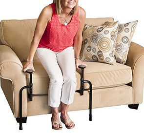 Stander EZ Stand-N-Go-Ergonomic Stand Assist Handles Mobility Aid for Couch Chair & Sofa & Living Room Grab Bar