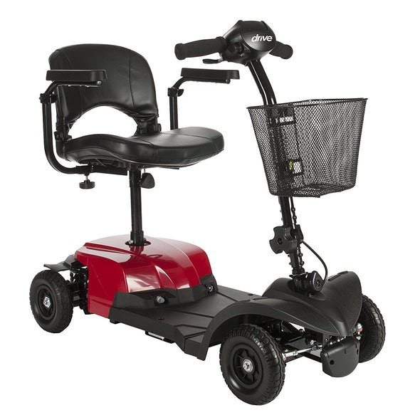Drive Medical Red Bobcat X4 4 Wheel Compact Transportable Scooter bobcatx4