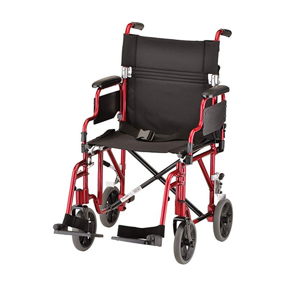 "Nova Medical 19"" Transport Chair with Detachable Arms $ Swing Away Foot Rests 349"
