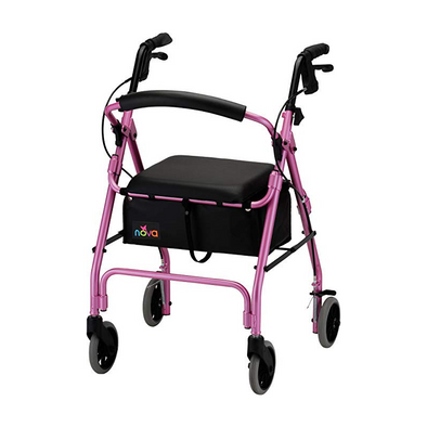 "Nova medical GetGo Classic Folding Lightweight Rollators with 6"" Wheels"