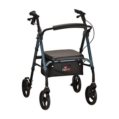 Nova Medical Star 6 Lightweight Rollators with Quick-Fit Push-Button Adjustable Height