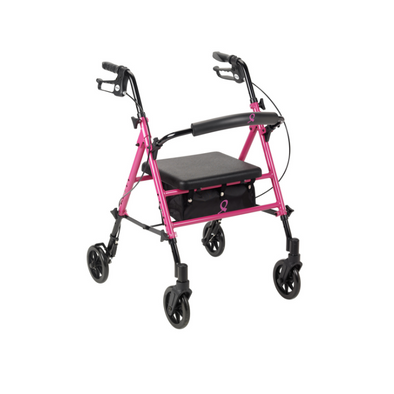 Drive Medical Breast Cancer Awareness Adjustable Rollator rtl10261bc