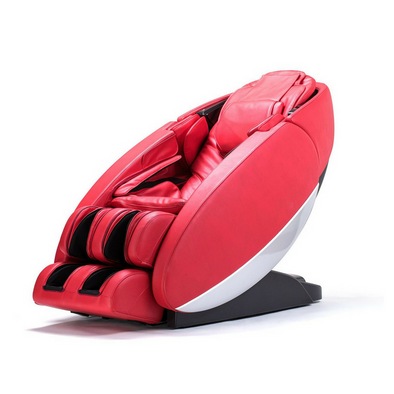 "Human Touch ""Novo"" Full Body Coverage Zero-Gravity L-Track Massage Chairs Red"