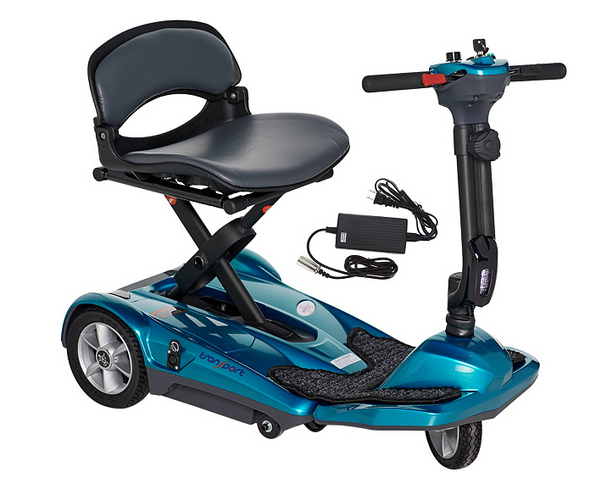 EV Rider Transport EZ Easy Move Folding Electric Mobility Scooter S19M Blue