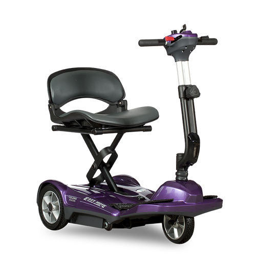 EV Rider Transport EZ Easy Move Folding Electric Mobility Scooter S19M Plum