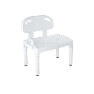 Carex Universal Tub Transfer Bench - Chair Converts to Right or Left Hand Entry