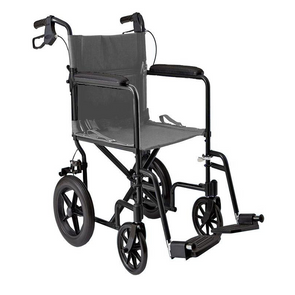 "MOBB Healthcare Lightweight Folding Transport Chair with 12"" Rear Wheels"