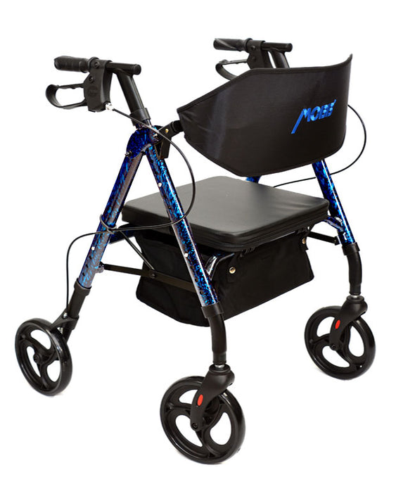 "MOBB Healthcare Aluminum Lightweight Rollators With Backrest - 8"" Wheels"