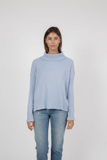 Napped Thermal Turtleneck - Pigment Light Blue