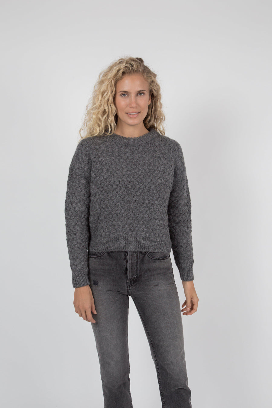 Kiernan Crew Sweater - Charcoal