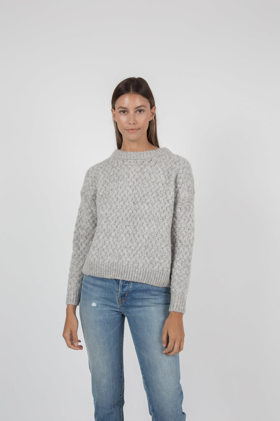 Kiernan Crew Sweater - Light Grey