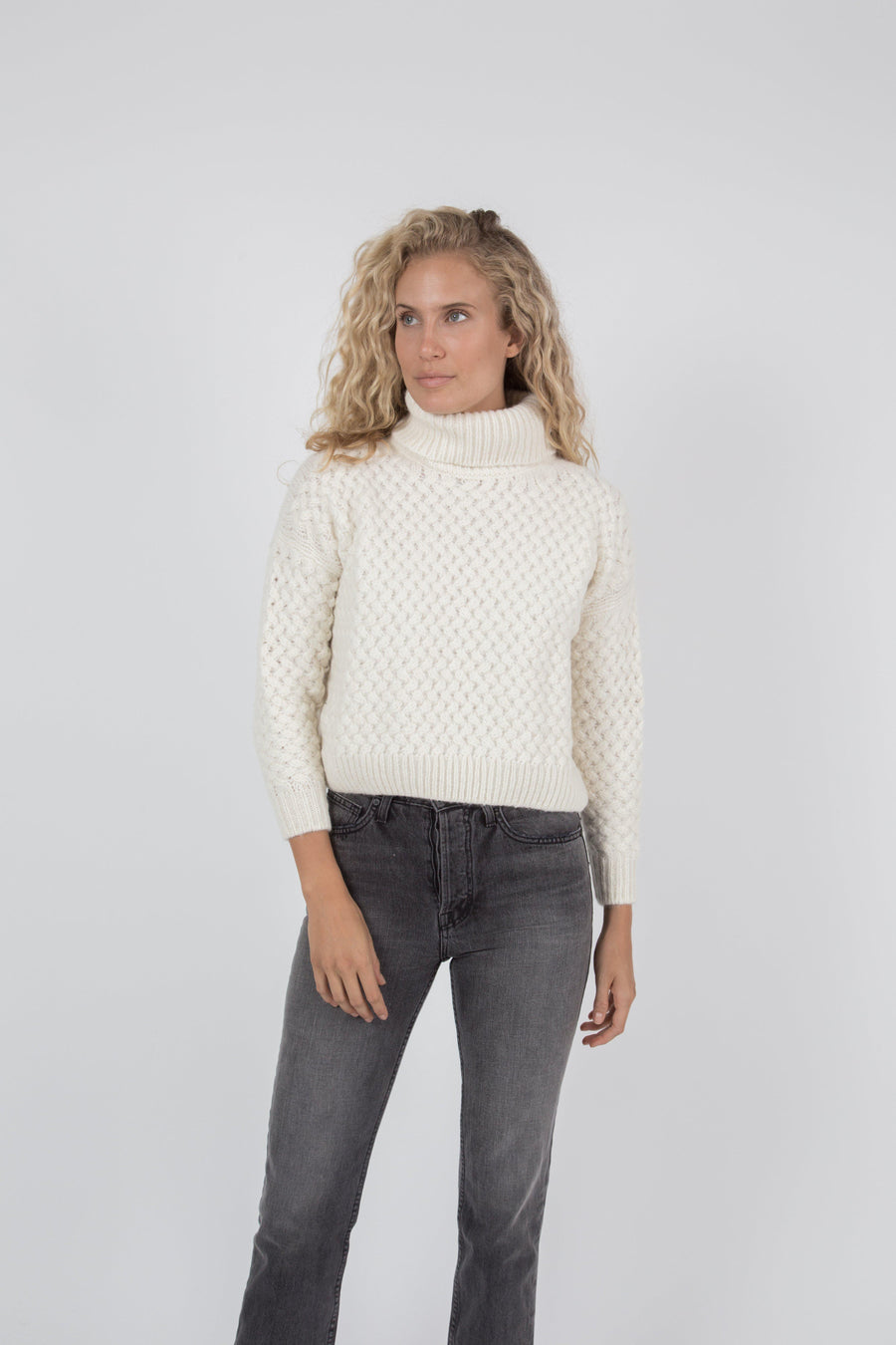 Kiernan Turtleneck Sweater - Cream
