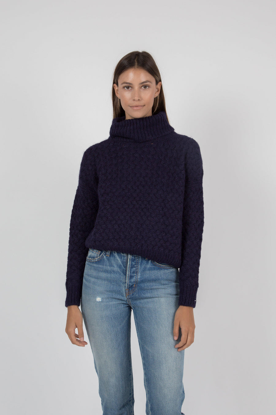 Kiernan Turtleneck Sweater - Navy