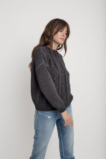 Cotton Birch Sweater - Black