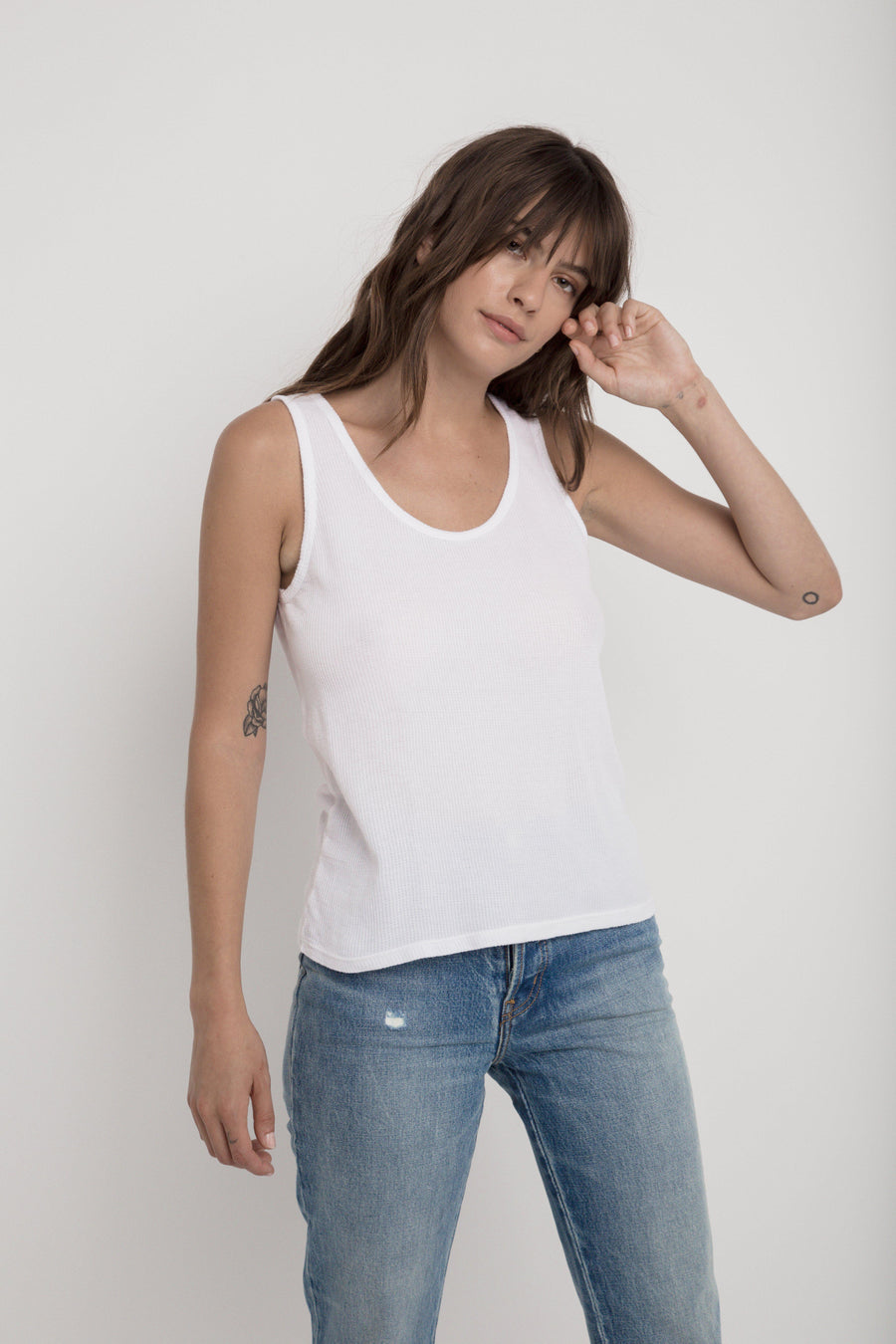 Thermal Gym Tank - White