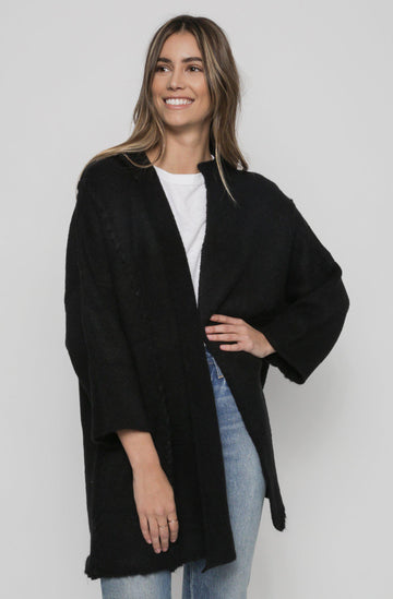 Stitch Cardigan - Black