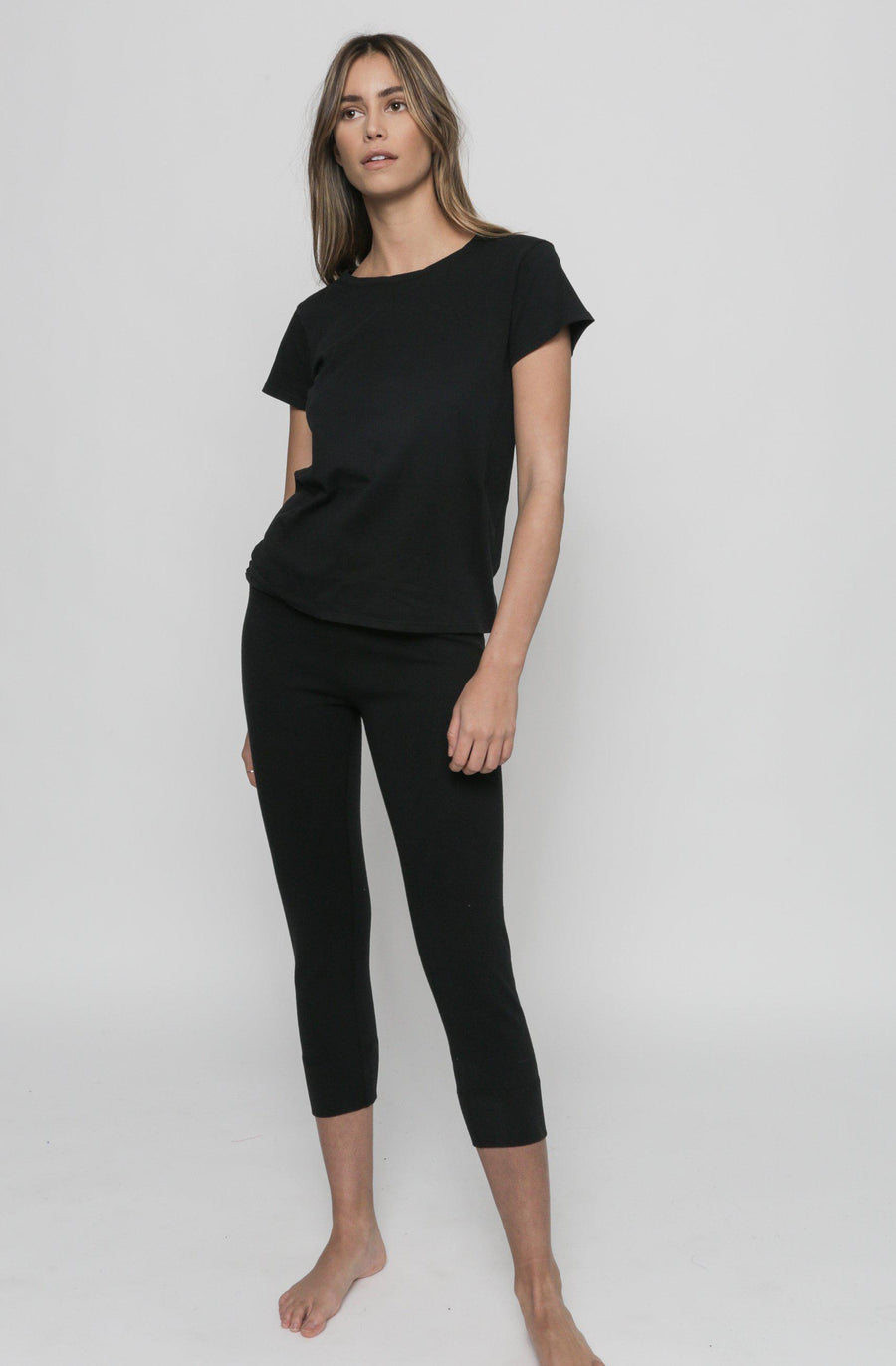 Easy Cropped Legging - Black