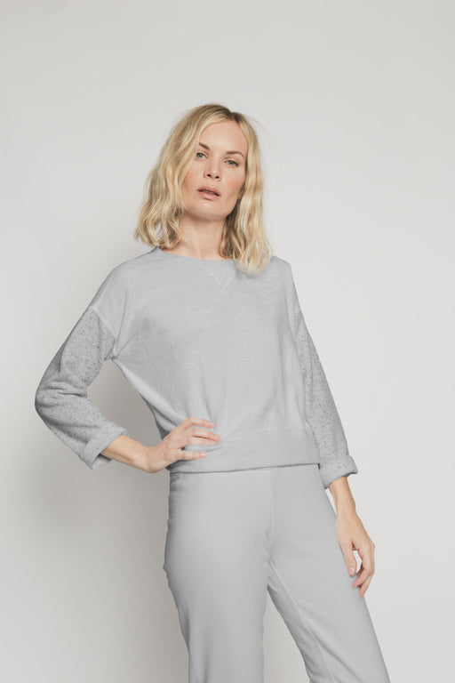 Patch Isabel Sweatshirt - Light Grey