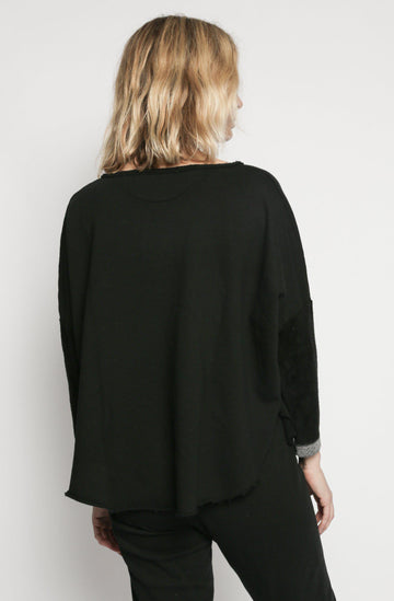 Patch Yoga Pullover - Black
