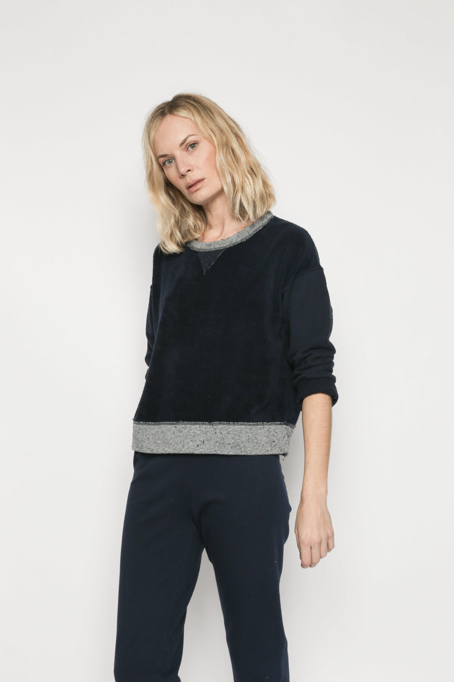 Patch Isabel Sweatshirt - Navy