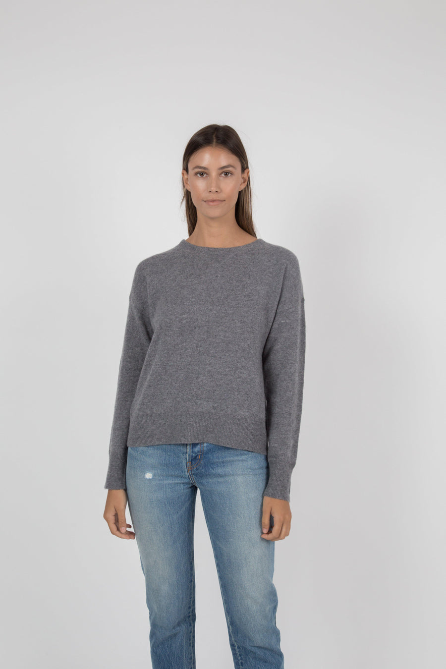 Tina Cashmere Sweater - Charcoal