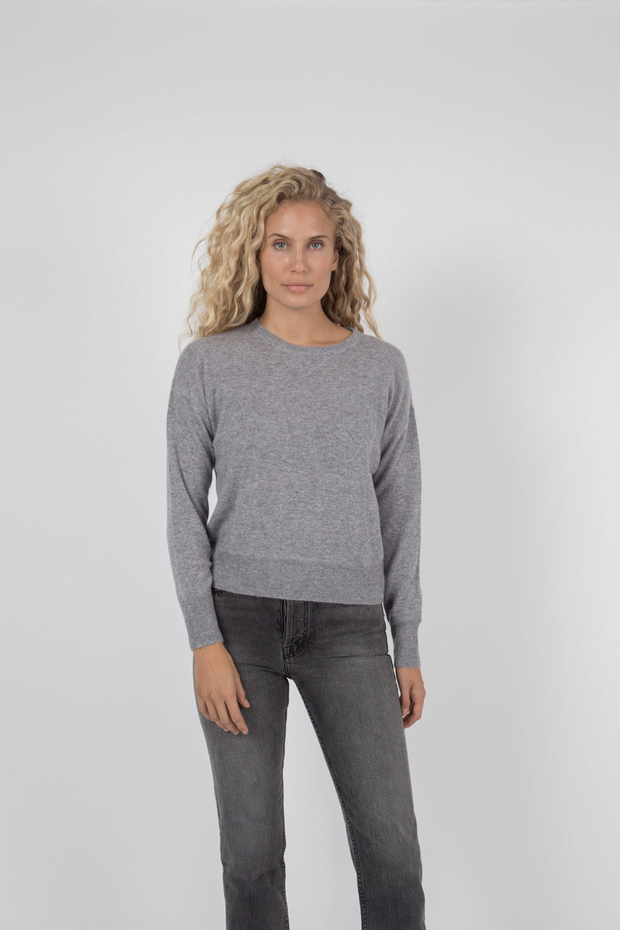 Tina Cashmere Sweater - Granite