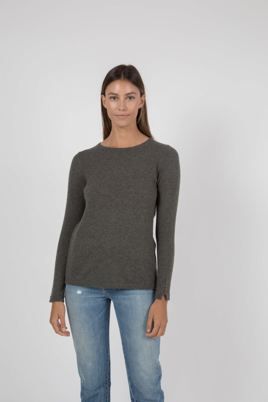 Cashmere Crew Sweater - Army