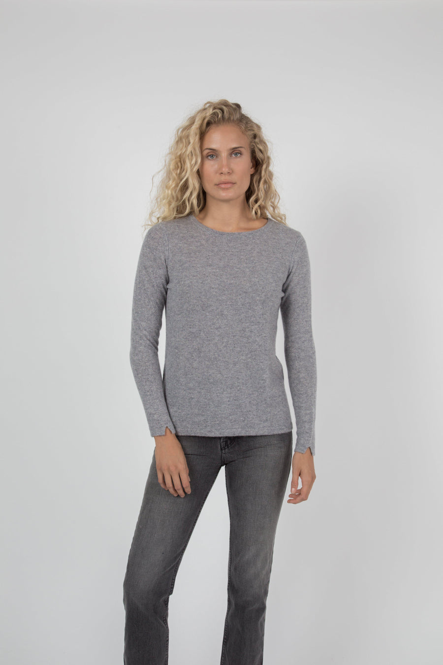 Cashmere Crew Sweater - Granite
