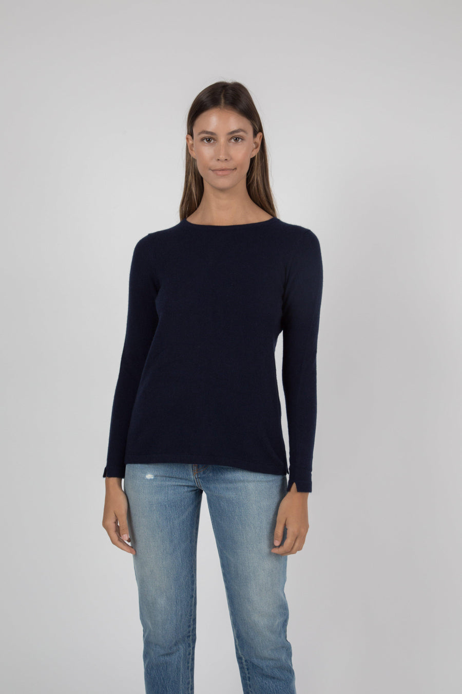Cashmere Crew Sweater - Navy