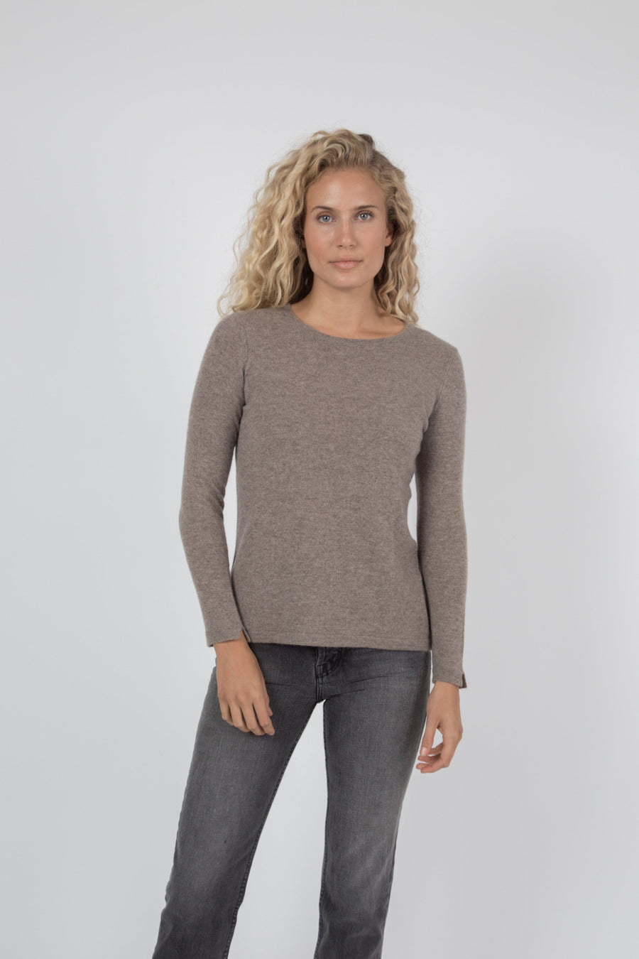 Cashmere Crew Sweater - Oatmeal