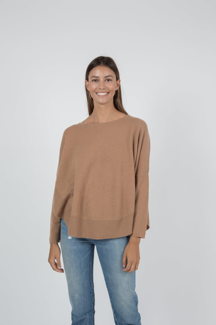 Rayna Cashmere Pullover - Camel