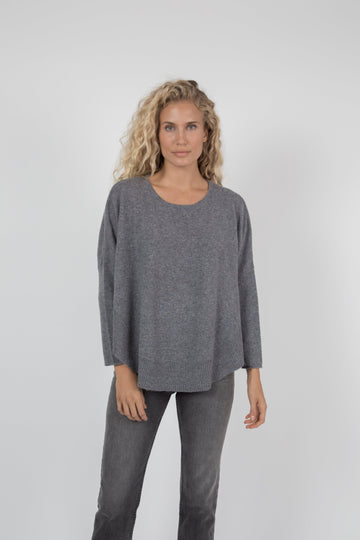 Rayna Cashmere Pullover - Charcoal