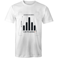 Katsumu: A Bar Graph With Sincerity Masculine S.Tee (White)