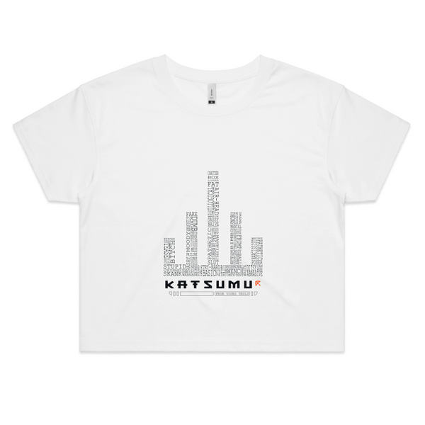 Katsumu: Sticks & Stones Semi-Crop T (White)