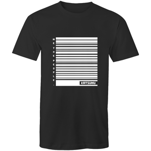 Katsumu: We The People of Barcodes Masculine S.Tee (Black) - Katsumu