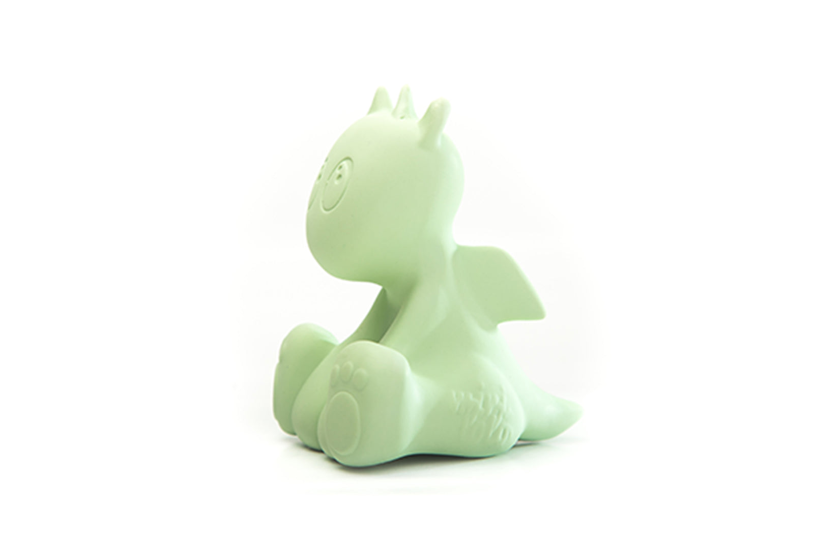 Mint Green Lolo the Dragon Teething and Bath Toy side view