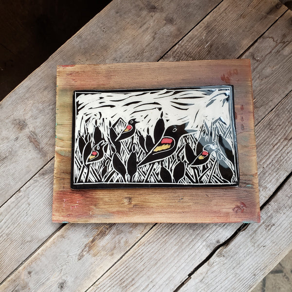 Red-wing Blackbird Wall Tile