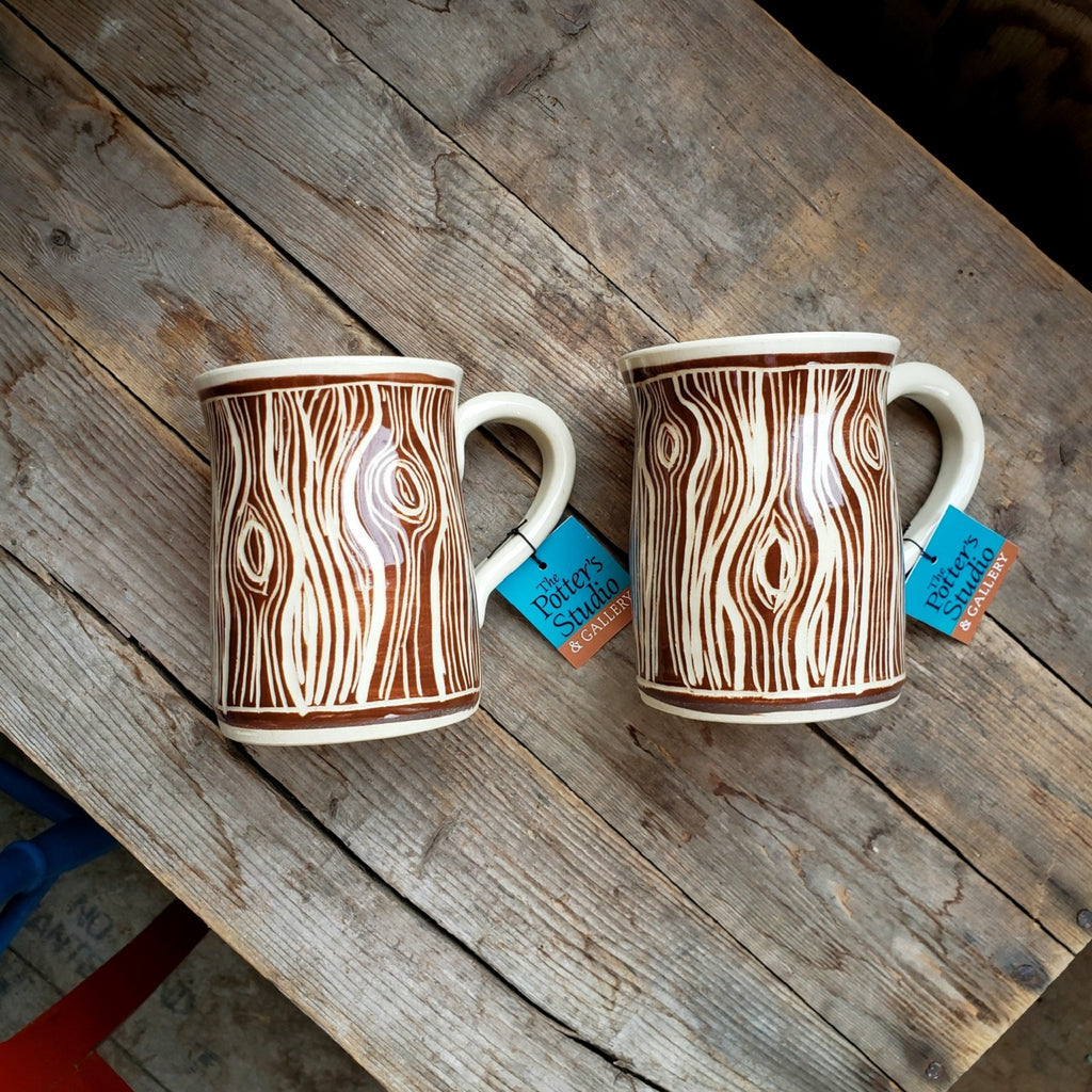 Mug, Wood Grain, Regular Size