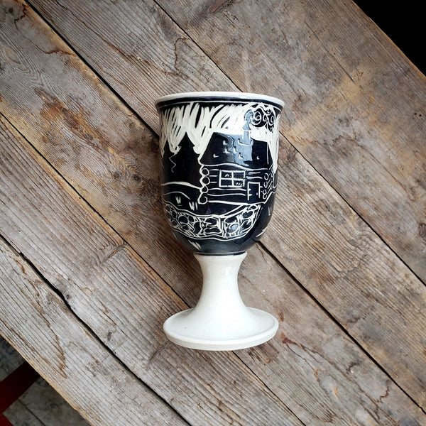 Wine Goblet, Stemmed, Log Cabin