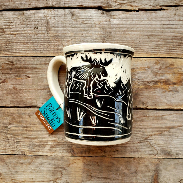 Mug, Regular Woodland Moose