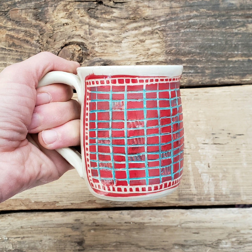 Mug, Shorty, Red Brick