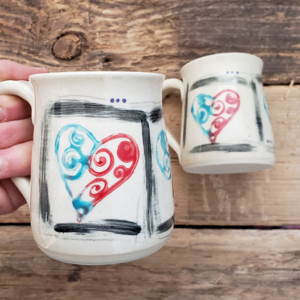 Mug, Shorty, Hearts