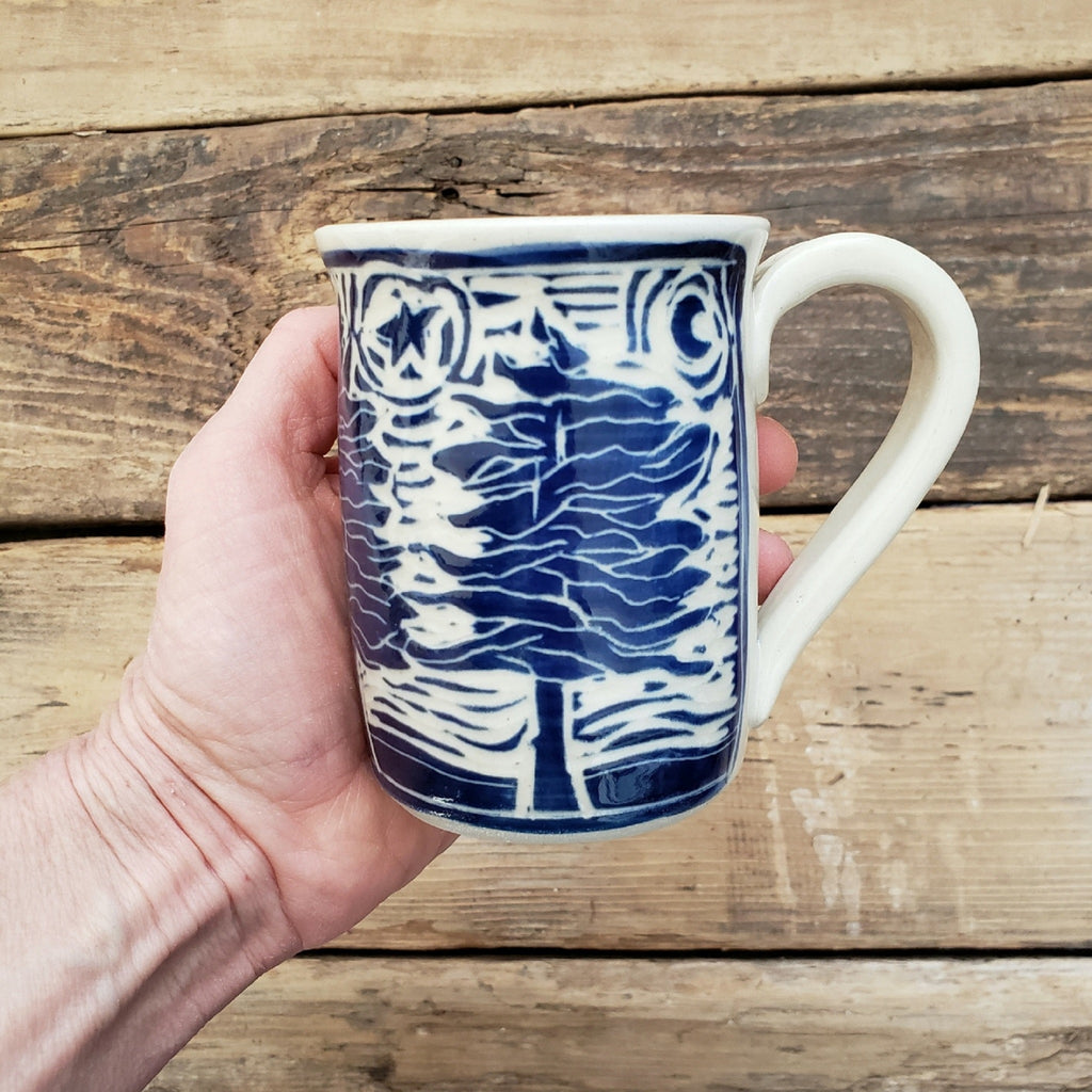 Mug, Shorty, Blue Tree