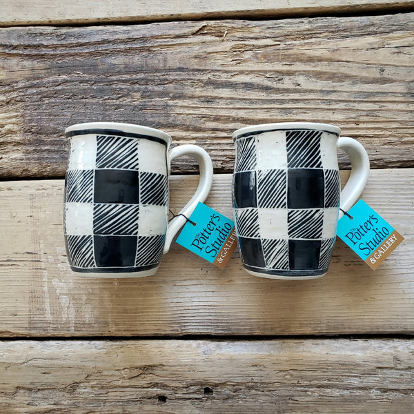 Mug, Black Buffalo Plaid