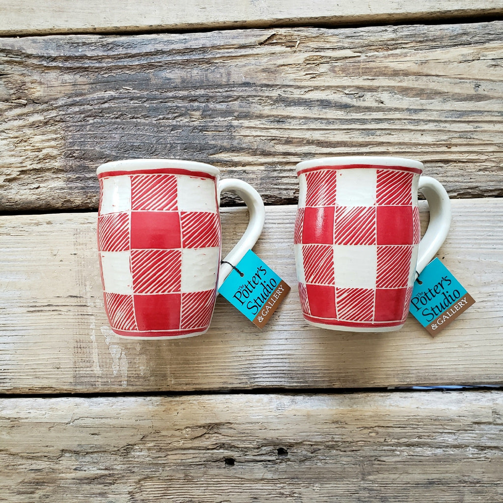 Mug, Red Buffalo Plaid
