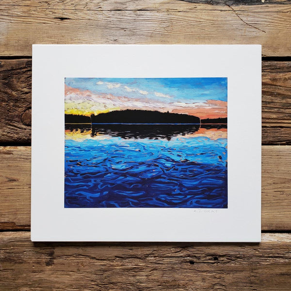Print, Delano Island and Sunset