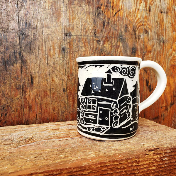Mug, Regular, Woodland Log Cabin